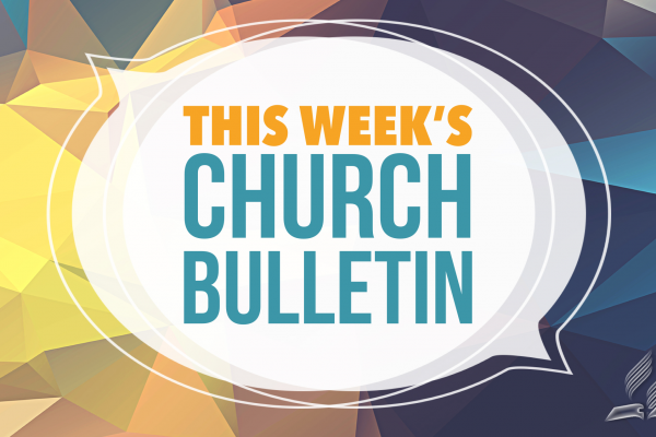 This weeks church bulletin