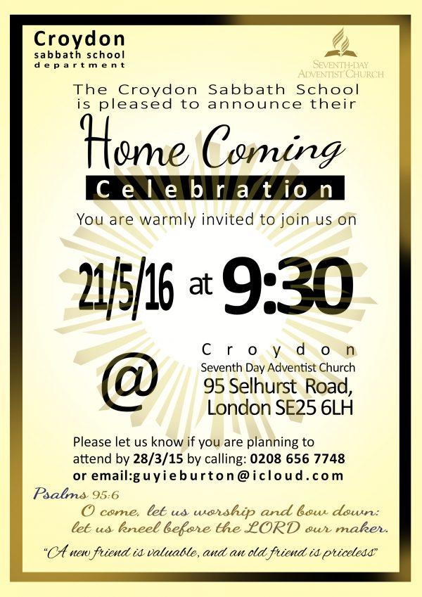 Croydon SDA homecoming 2016