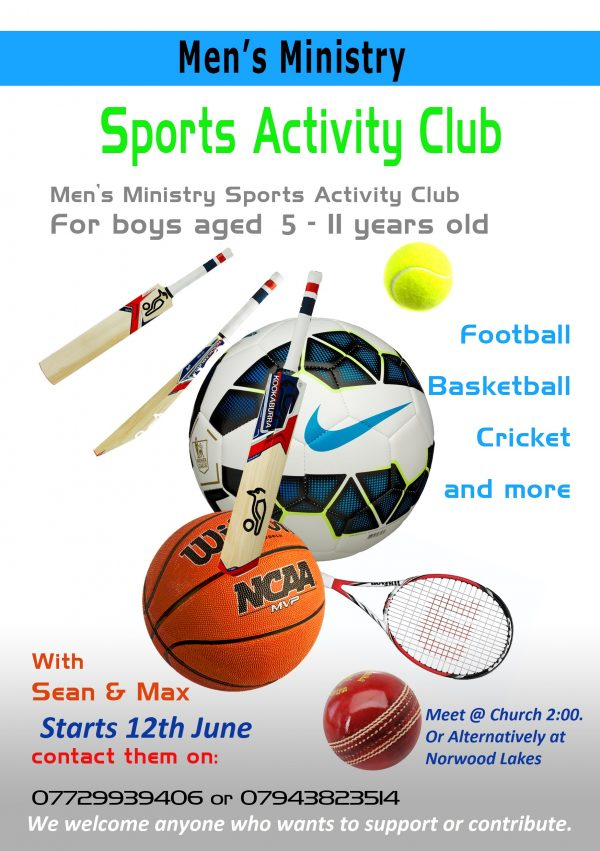 Men's Ministry Sports Activity Club