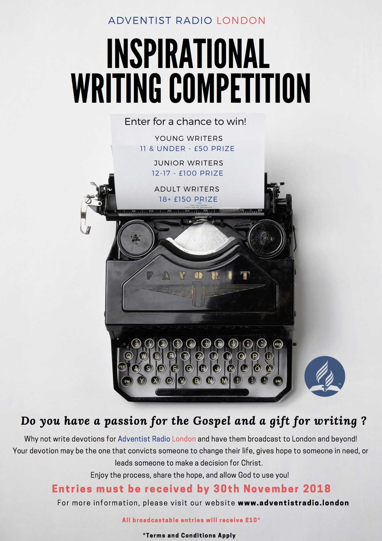Inspirational Writing Competition – Croydon Seventh-day