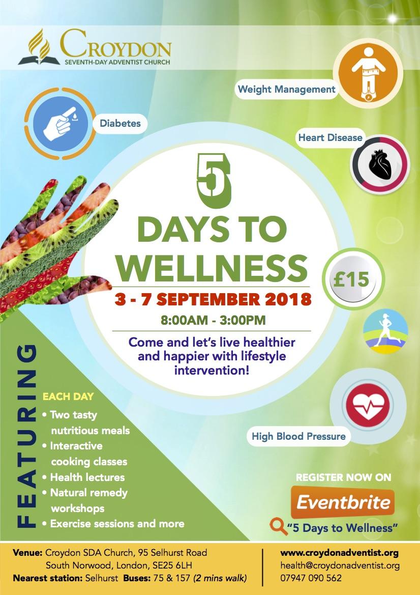 5 Days to Wellness: Healthy Lifestyle Programme – Croydon