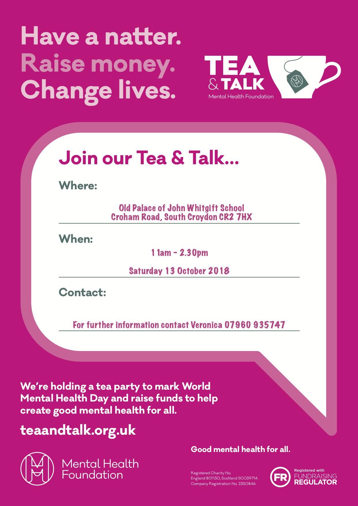 Tea and Talk Poster
