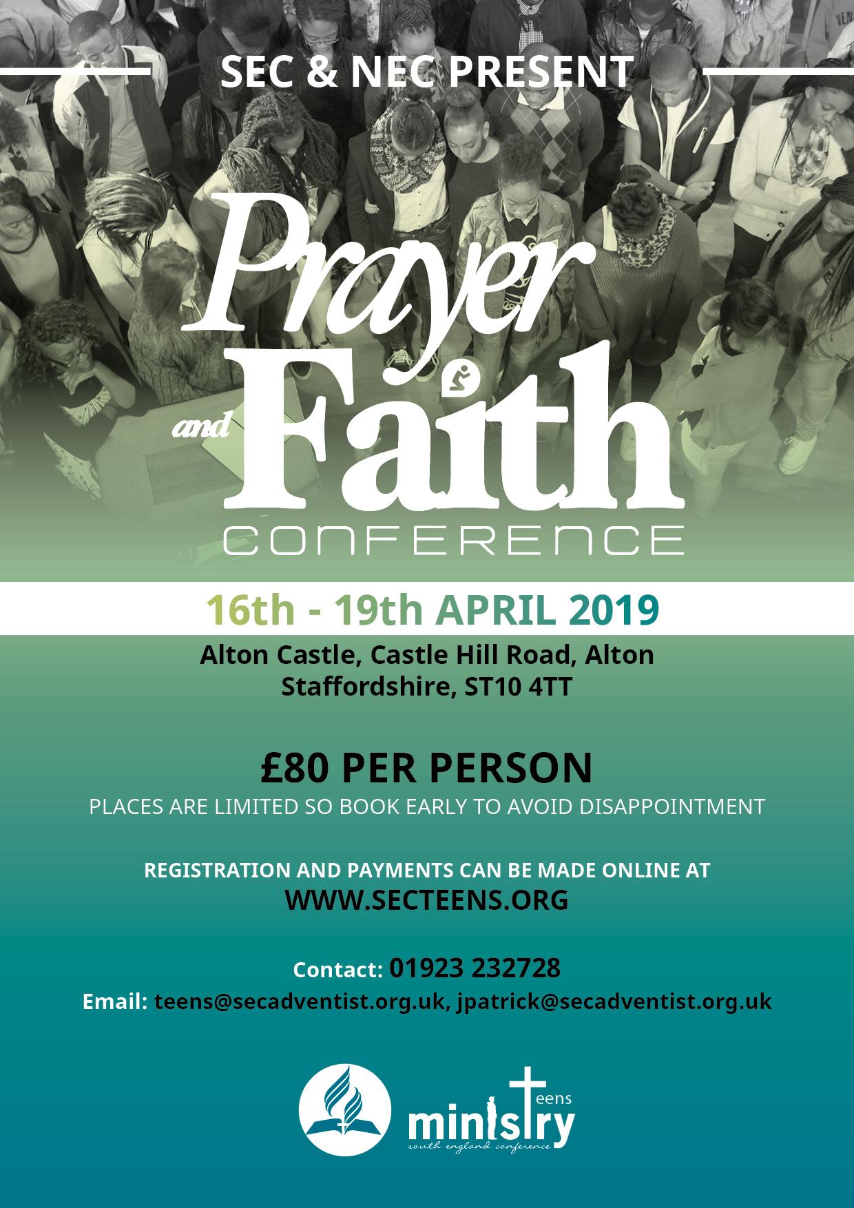 2019 Prayer & Faith Conference – Croydon Seventh-day